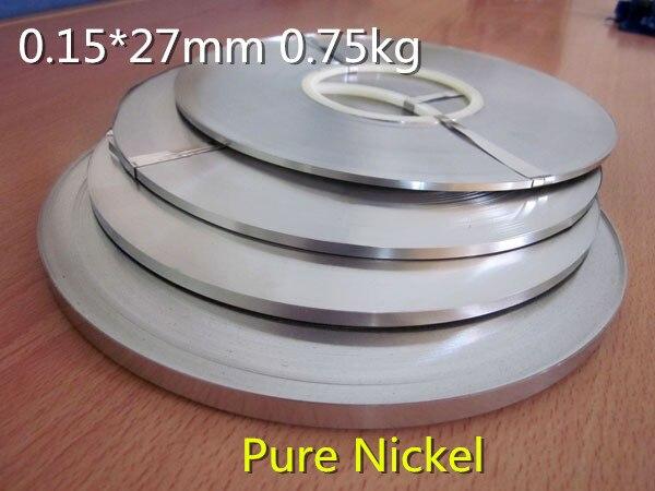 Haute qualité! Pure nichel 99.96% batterie pure nickel bande cellule connecteur batterie pure nickel plaque 0.15*27mm 1 kg