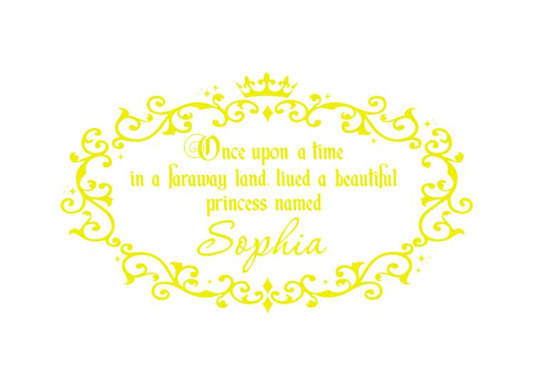Once Upon A Time Quotes Wall Decals Custom Baby Girls Princess