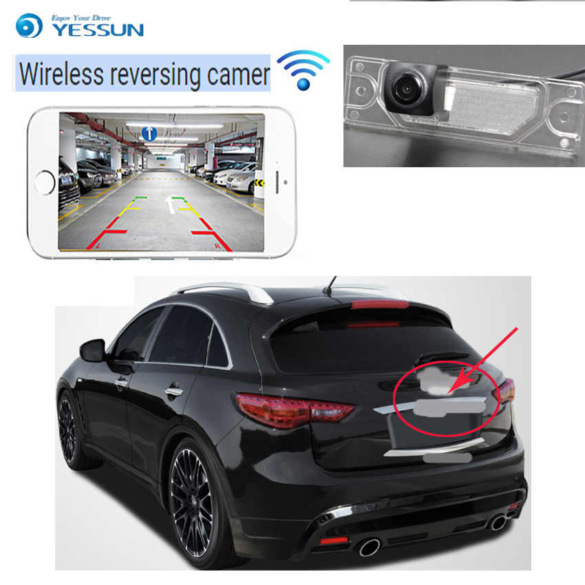 YESSUN new HD night vision waterproof car reversing wireless camera For Infiniti FX35 FX37 FX50 FX30D QX70 S51 2009~2017