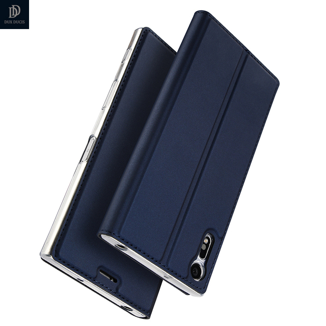 wholesale dealer 6c050 10880 US $8.99 39% OFF|Luxury Leather Case For Sony Xperia XZ Case F8331 Dual  F8332 Flip Cover Phone Case For Sony XZ 5.2