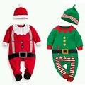 2017 nuevo bebé pijama de algodón niños boy chica ropa set 1-2 edad niños marca pijamas pijama niño para la Navidad presente