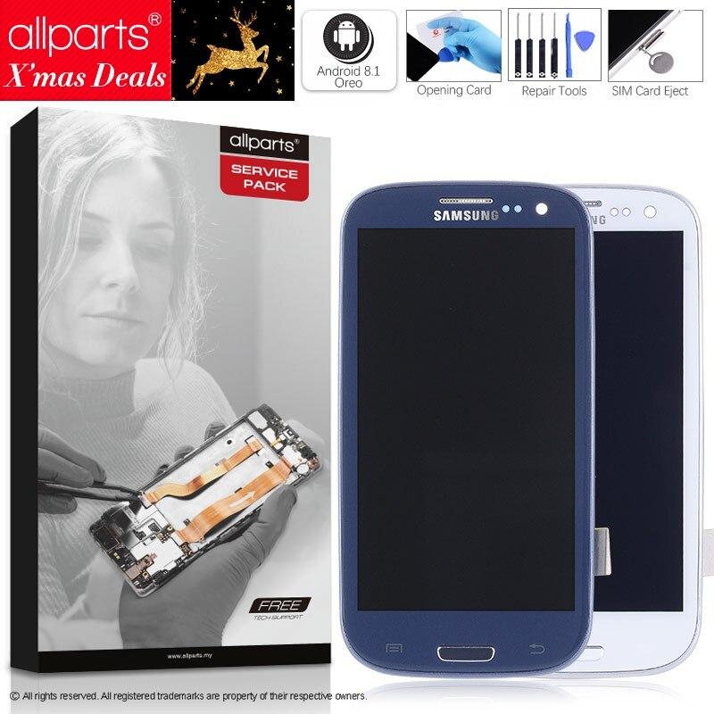 I9300i i9300 Display Für SAMSUNG Galaxy S3 LCD Bildschirm mit Rahmen Ersatz Für SAMSUNG Galaxy S3 Display i9301 i9308i i9301i