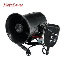 Motolovee Универсальный 12V 100W Авто громкий звуковой сигнал 105-115db сирена с 6 звук тон Мегафоны сигнализации для мотоциклов автофургон лодка