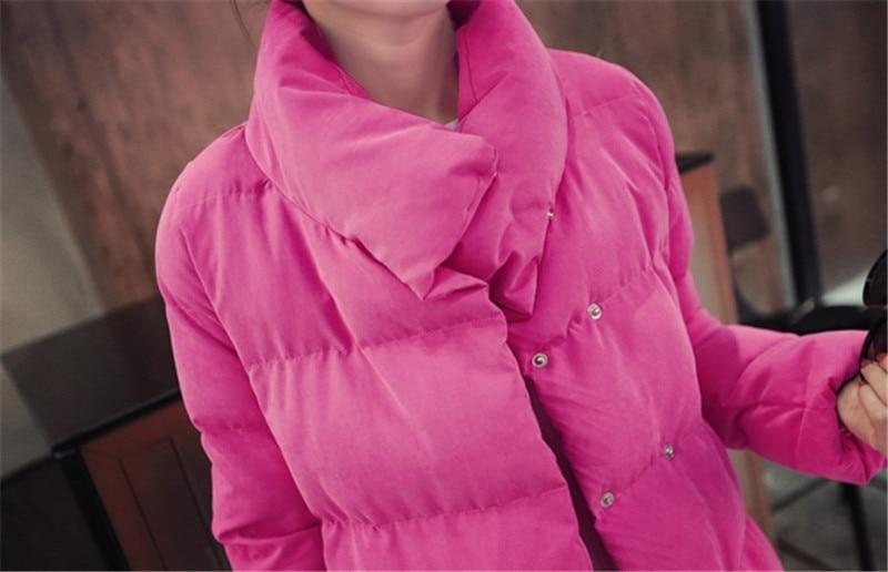 Blue Veste Le khaki Rembourré red Capuchon Liht Femmes Plus En Mince Taille À Manteau Dames Bas Équipée La D'hiver Vers Coton Lâche Tt141 Long pqFA1x