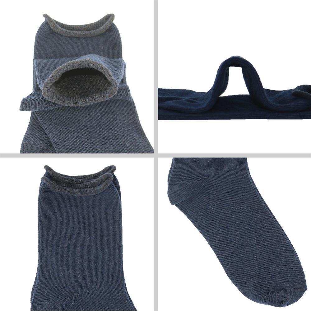 5 Paar / Lot Baumwolle Damen Socken Vintage Solid Spring Fall Mode - Unterwäsche - Foto 4