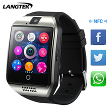 Langtek 2017 Q18+ Smart Watch With Camera Bluetooth WristWatch SIM Card Smartwatch For Ios Android Phones Good as U8 Q18 dz09