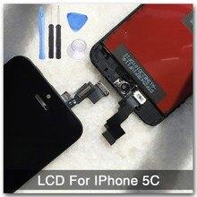 Lcd para iphone 5c pantalla lcd táctil digitalizador asamblea pantalla completa pantalla de reemplazo sin pixeles muertos puntos rayas