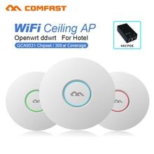 CF-E320V2 крытый беспроводной маршрутизатор 300 М Потолок AP COMFAST 6dbi антенна 48 vpoe openwrt Wi-Fi Точка Доступа AP wi-fi усилитель сигнала