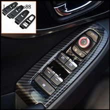 4Pcs Door Window Lift Switch Button Cover Trim Panel Car Trim Sticker Fit For Subaru XV 2018 2019 Car Accessories qhcp 4pcs car window switch button frame cover stickers decoration trims auto accessories special for subaru forester 2016 2017