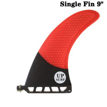 UP-Surf 9 inch Fin Fibreglass Surfboard 9 length Red color Fin Carbono Barbatana in Surfing Longboard Fins stand up paddle недорого