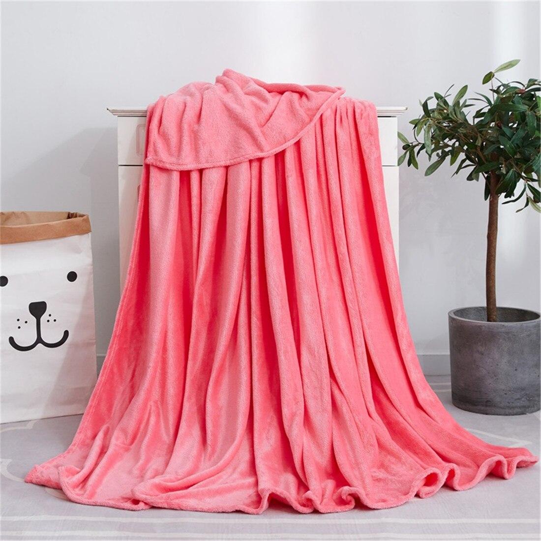 Soft Warm Coral Fleece Blanket Winter Sheet Bedspread Sofa Throw 220Gsm 6 Size Light Thin Mechanical Wash Flannel Blankets
