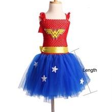Batman Kids Girls Tutu Dress Superhero Halloween Christmas Birthday Party Costume Wonder Woman Superman Dress TS089