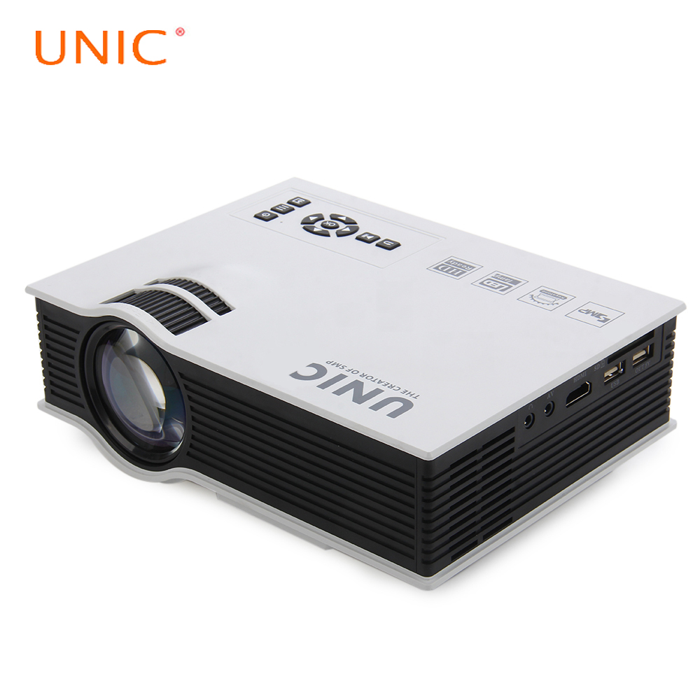 Prix pour D'origine unic uc40 + mini portable led 3d projecteur hdmi home cinéma beamer multimédia proyector full hd vidéo