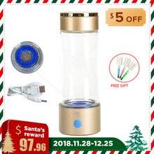 Высокая концентрация 1000-1200ppb водородная бутылка для воды USB перезаряжаемая 320 мл щелочная вода чайник Антивозрастная вода ионизатор