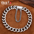 Beier new store100% 925 silver sterling bracelets bangles for men simple high quality hand chain fine jewelry SCTYSL0187