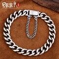 Beier nova store100 % 925 pulseiras pulseiras de prata esterlina para homens simples de alta qualidade mão cadeia fine jewelry sctysl0187