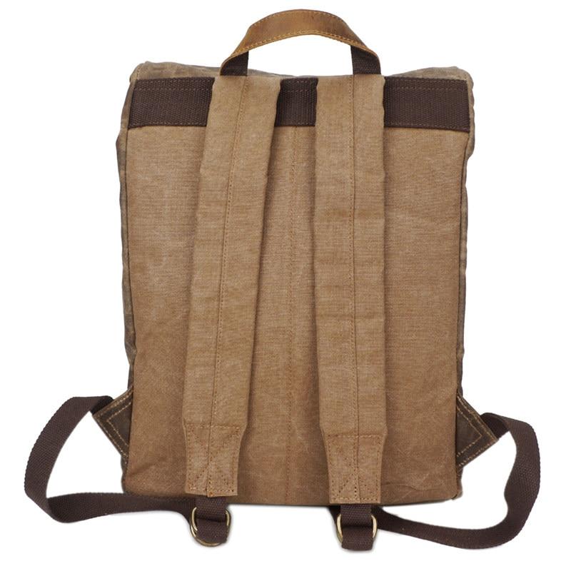 Nesitu duży rozmiar rocznika Khaki szary zieleń wojskowa płótnie mężczyźni plecaki kobiety plecak 14 ''laptop męskie torby podróżne # m5162 w Plecaki od Bagaże i torby na  Grupa 2