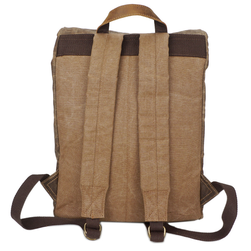 Nesituขนาดใหญ่วินเทจสีกากีสีเทาสีเขียวทหารผ้าใบผู้ชายเป้ผู้หญิงกระเป๋าเป้สะพายหลัง14 ''แล็ปท็อปผู้ชายกระเป๋าเดินทาง# M5162-ใน กระเป๋าเป้ จาก สัมภาระและกระเป๋า บน   2