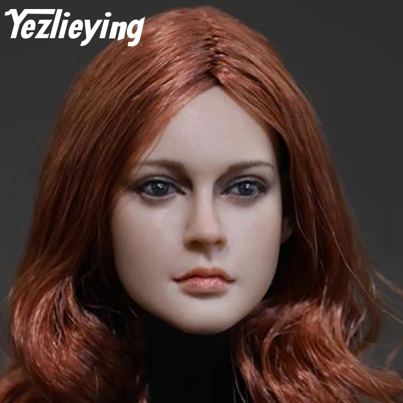 1/6 Head Shape D-006 Long Hair Woman Head Sculpture Model 12 Phicen Favorite Action Figure DIY Toy Doll Accessories Collection 1 6 figure doll head shape for 12 action figure doll accessories batman joker red hair head carved not include body clothes