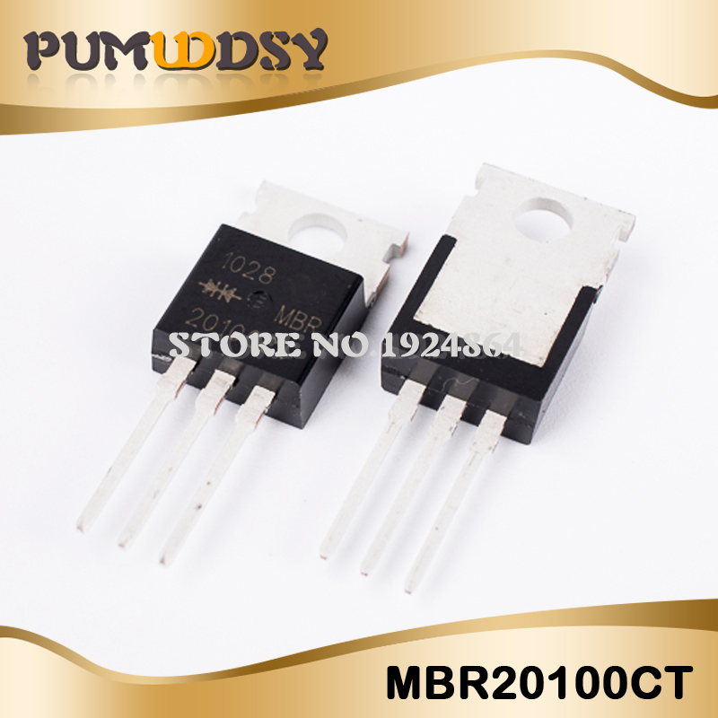 10PCS/LOT MBR20100CT MBR20100 MBR20100C MBR20100G B20100G Schottky TO-220