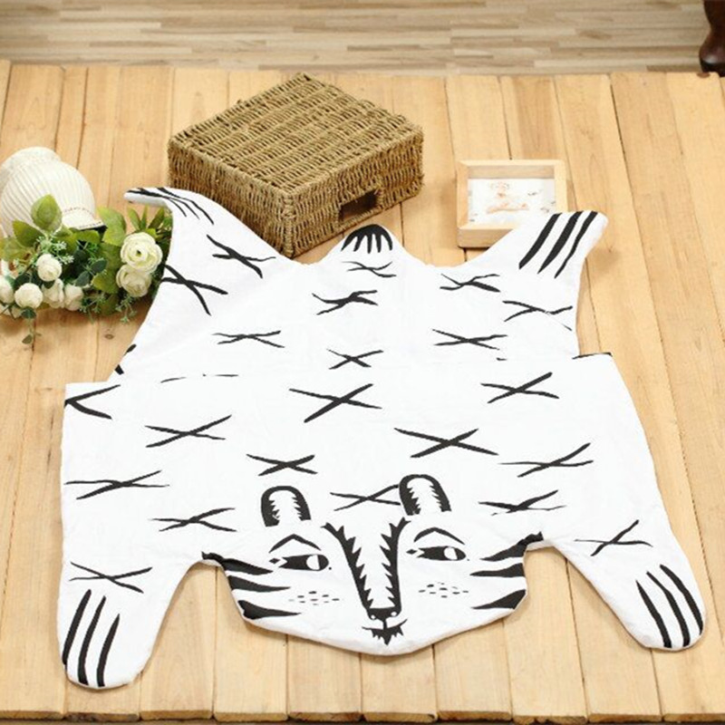 Cotton Baby Crawling Pad Tiger Child Play Game Mat Baby Gym mat Cartoon Kids Room Floor Developing Carpet Toys round 110*70CM