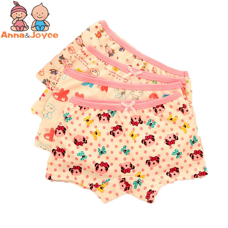 Panties Explosive Child Models Girls Cartoon Boxer Briefs Cotton Underwear Underwear In Children 2cs/lot Atnn0083