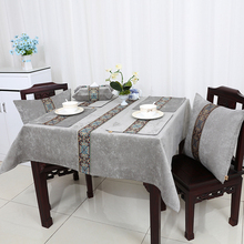 Multi Size Length Lace Patchwork Table Cloth High End Decorate Coffee Table  Tablecloth European Style Velvet