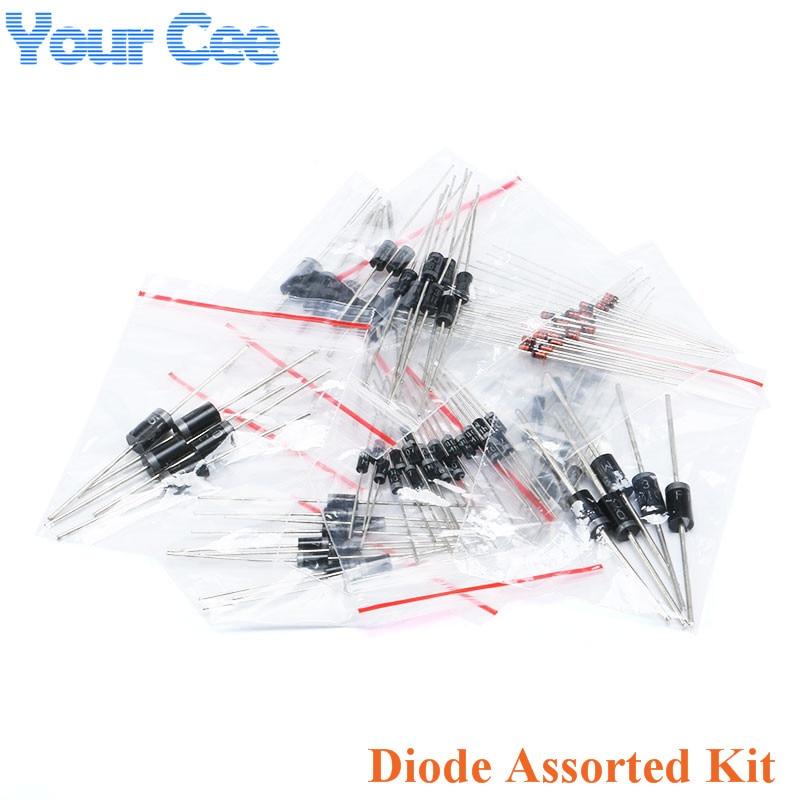 1 lot 1N4148 1N4007 1N5819 1N5399 1N5408 1N5822 FR107 FR207 Diode Assorted Kit Electronic Components Package