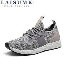 2017 LAISUMK Men Casual Shoes Summer Breathable Mesh Men Shoes Lightweight Men Flats Fashion Casual Shoes Brand Designer Shoes