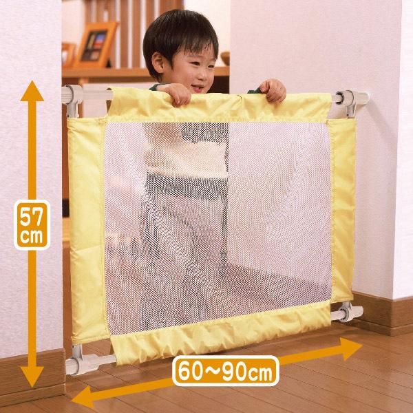 Puerta de niño de la tela neta de la escalera valla de protección de aislamiento de la puerta del bebé s