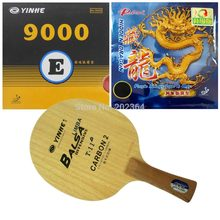 Galaxy YINHE T-11+ Table Tennis Blade with 9000E / Palio Hidden Dragon (Upgrade) Rubber with Sponge for One Racket FL(China)