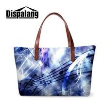 Dispalang Zipper Shoulder Handbag for Women Printed Tote Bag