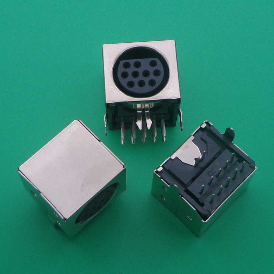 5 Stück S-Video PCB Montage 4 Pin Mini Din Buchse Audio Video Anschluss Schwarz
