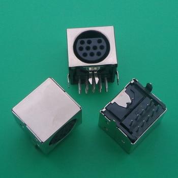 1pcs/lot MD Housing Female DIN 10 Mini Pin S-video Adapter Socket Mini DIN Port Connector