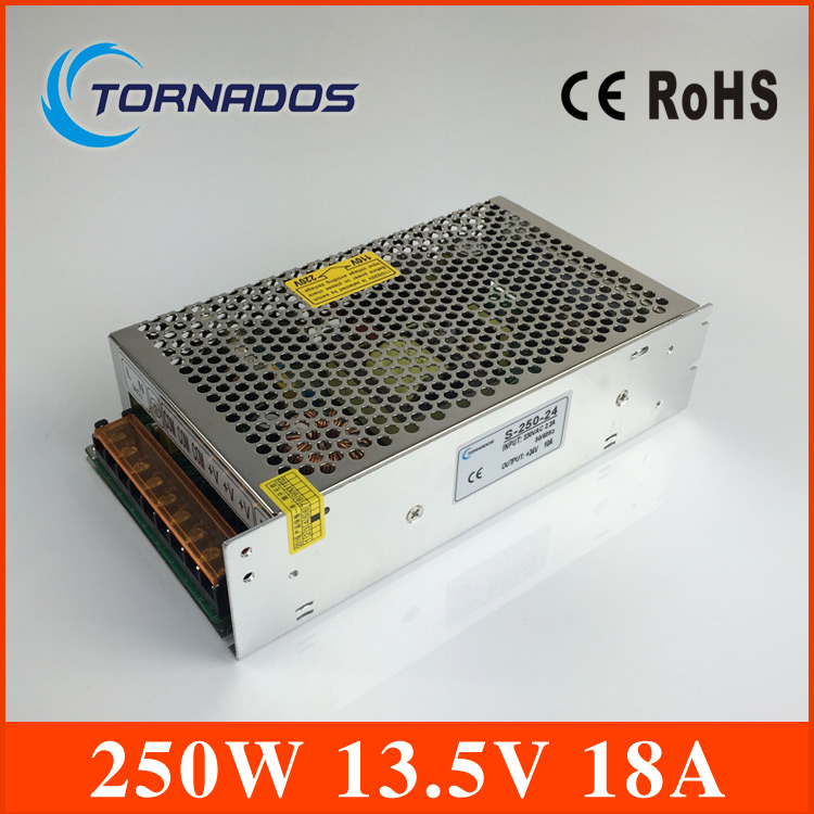 ФОТО CE ROHS certification 13.5V 250w switching power supply with OEM and  ODM offered s-250-13.5  industrial LED power source