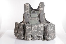 8Pcs Military Tactical Vest Outdoor Hunting CS Army Combat Nylon High Quality Safety Vest with pouches