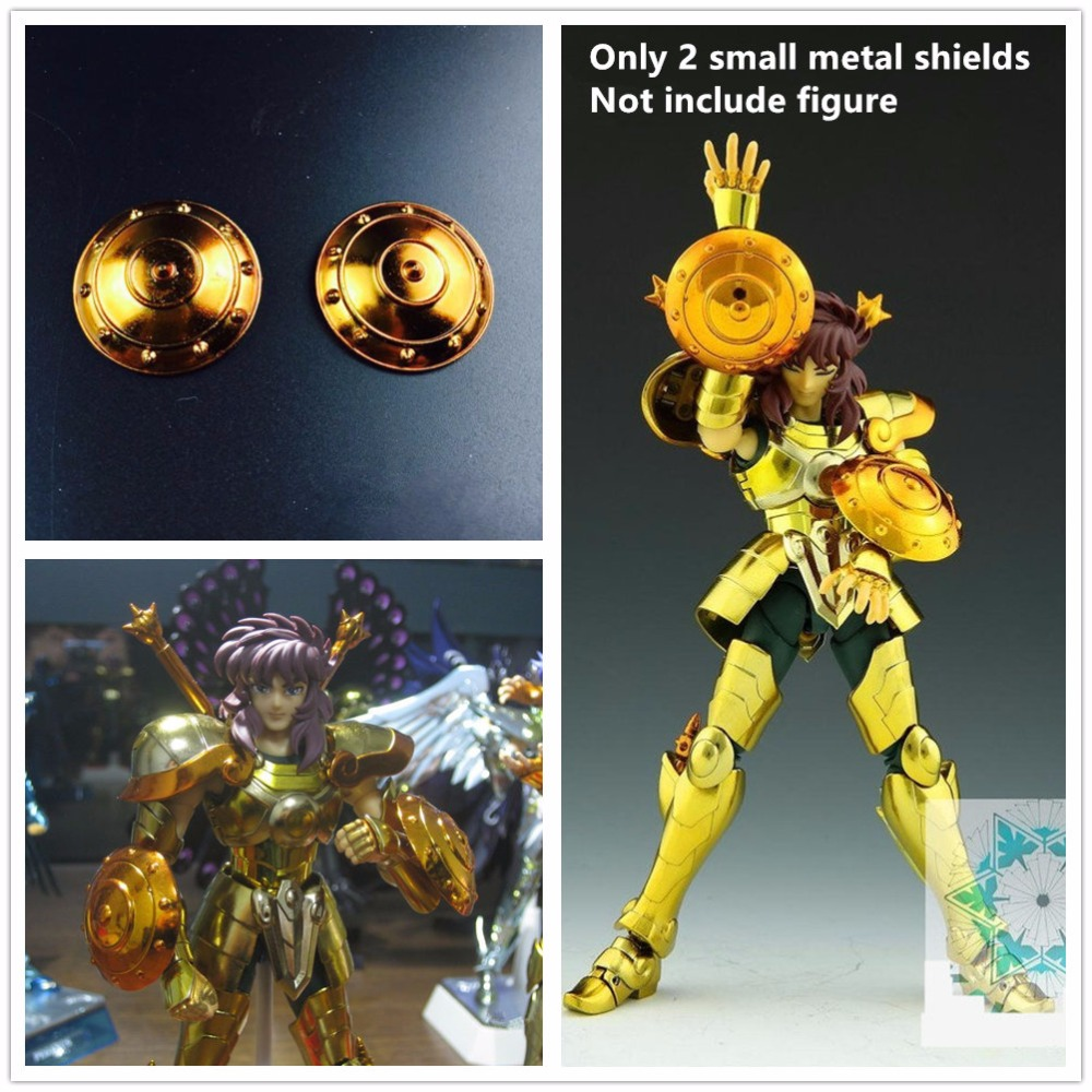 <font><b>Saint</b></font> <font><b>Seiya</b></font> <font><b>Cloth</b></font> <font><b>Myth</b></font> 2 metal small shields for <font><b>Bandai</b></font> Libra EX Gold Dohko Shiryu S008 image