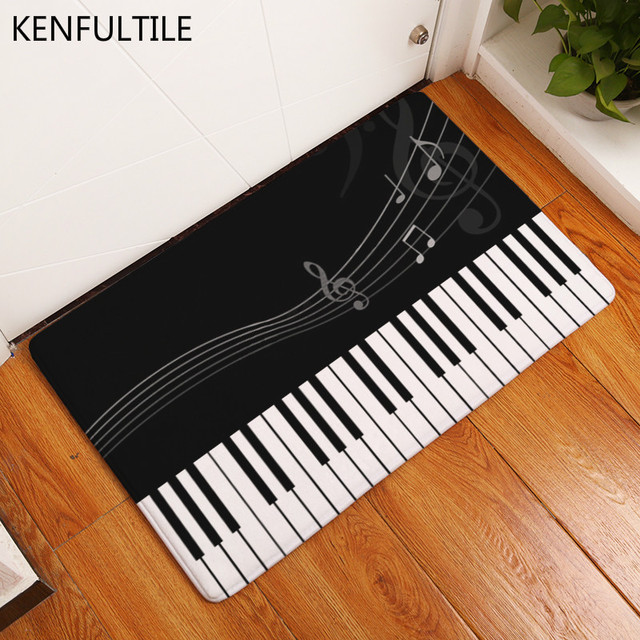 Doormat Music Rhyme Notes Printed Floor Carpet Bathroom Kitchen Entrance Non-slip Door Mat 40X60cm & Doormat Music Rhyme Notes Printed Floor Carpet Bathroom Kitchen ...