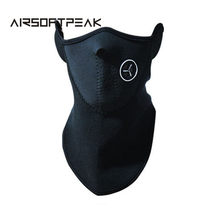 Outdoor Sports Neck Warmers Fleece Balaclavas Skiing Windproof Protect Half Face Mask Neoprene Fishing Mask Hunting Accessories(China)