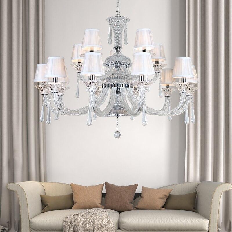 Moderne Led lustre éclairage pour salon Cuisine Chambre lustres par quarto transparent Couleur lampadario led abat-jour