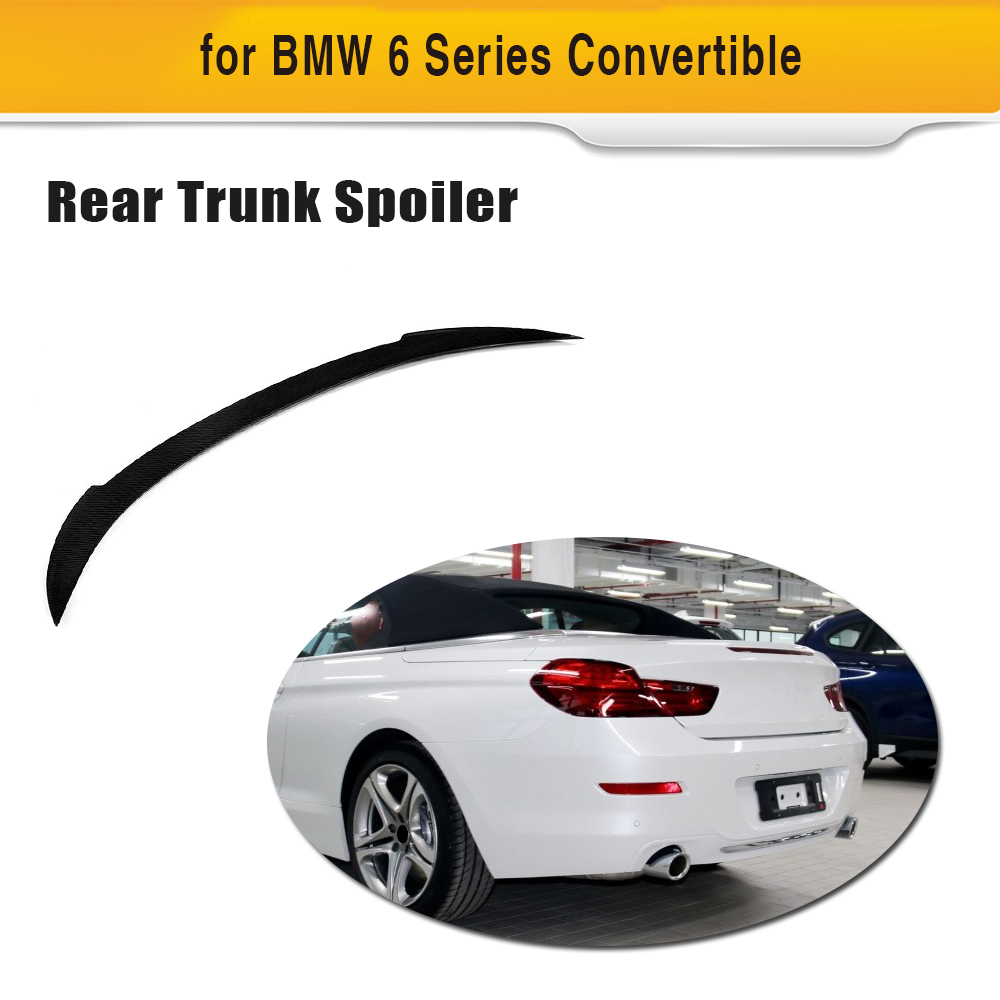 Carbon Fiber V Style Rear Spoiler Trunk Boot Wings For BMW