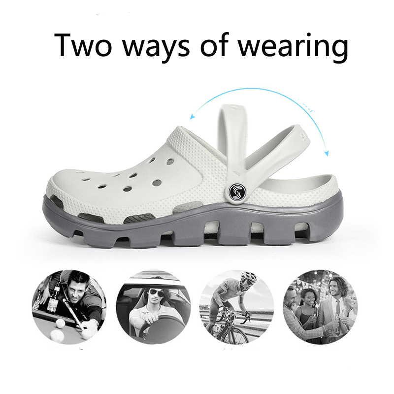 2019 ฟรีรองเท้า Clogs สวนกันน้ำ cro ผู้หญิงคลาสสิกพยาบาลโรงพยาบาลทำงานผู้หญิง Medical รองเท้าแตะขนาดใหญ่