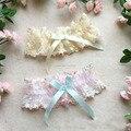 Luxo bordados rendas Floral Elastic coxa alta de casamento cinta liga Cosplay empregada Lingerie Bowknot banda Strap