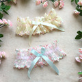Luxury Embroidery Lace Floral Elastic Thigh High Garter Belt Wedding Cosplay Maid Lingerie Bowknot Band Strap