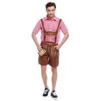 High Quality Oktoberfest Costume Lederhosen Bavarian Octoberfest German Festival Beer Cospaly Halloween For Men Clothing