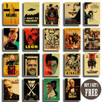 Vintage Poster classic movie Pulp Fiction / Kill Bill/Fight Club poster Retro kraft paper posters decorative art painting