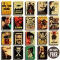 ВИНТАЖНЫЙ ПЛАКАТ из классического фильма «Криминальное чтение»/«Убить Билла»/Бойцовский клуб постер, ретро плакаты из крафт-бумаги, декора...
