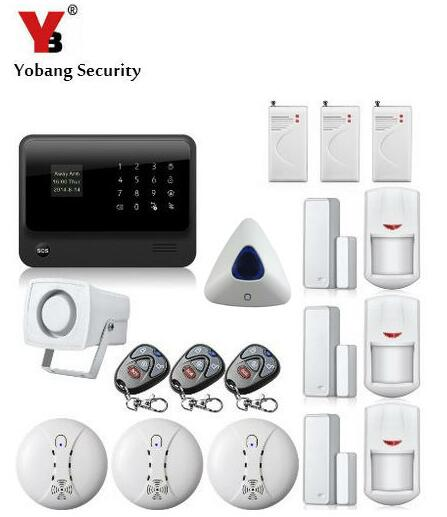 YoBang Security Touch Screen GSM Home Office Burglar Security Alarm System WIFI G90B Android IOS APP Control Alarm Sensor Kit.