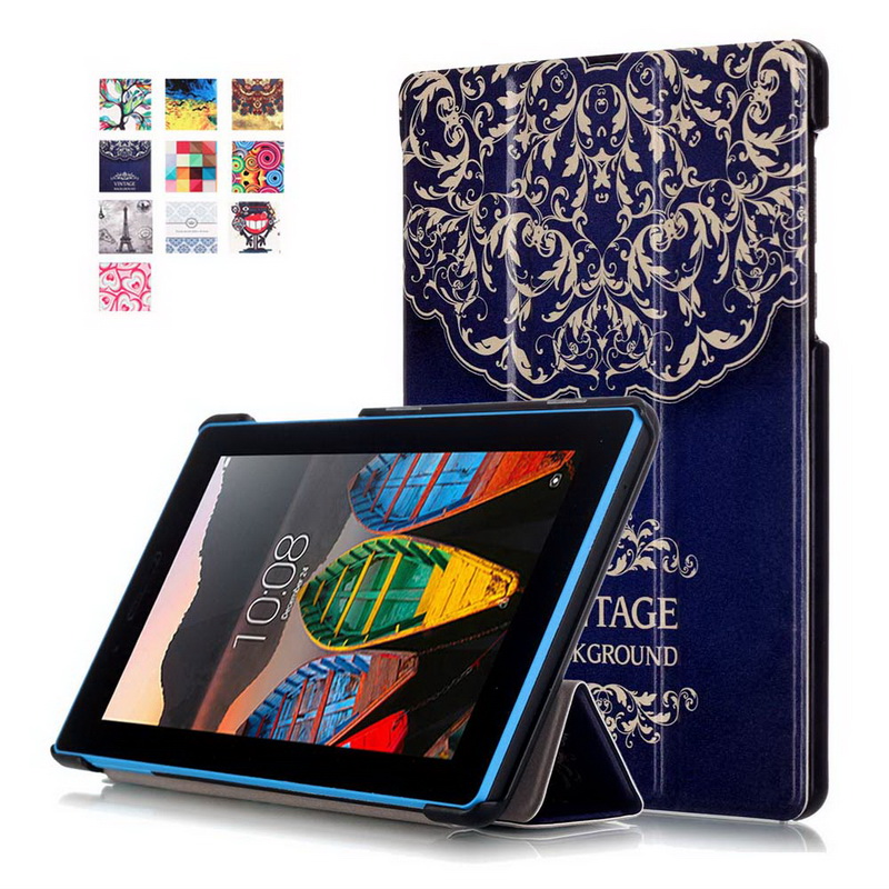 Multicolor Pattern Cover for Lenovo tab 3 7 0 Case Flip PU Leather tablet Case for