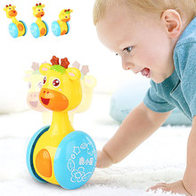 Baby Rattles Tumbler Doll Toys Bell Music Learning Education Toys Gifts for 0-12 Months @ YJS Dropship недорого